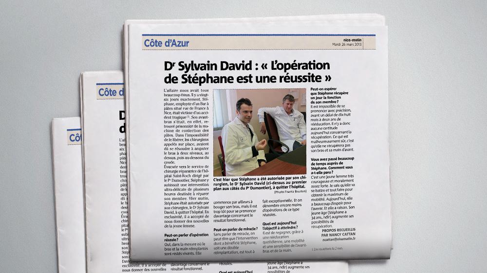 Sylvain David dans Nicematin